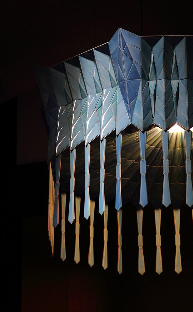 日本陶芸展大賞受賞者、石橋裕史氏による「みほとけの説かれる大宇宙の真理」をイメージした天蓋